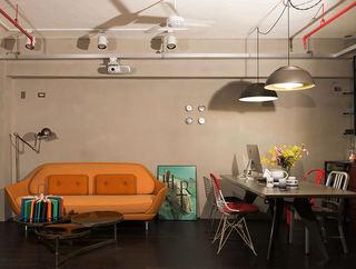 38平米小户型现代混搭工业风家居室内装修效果图