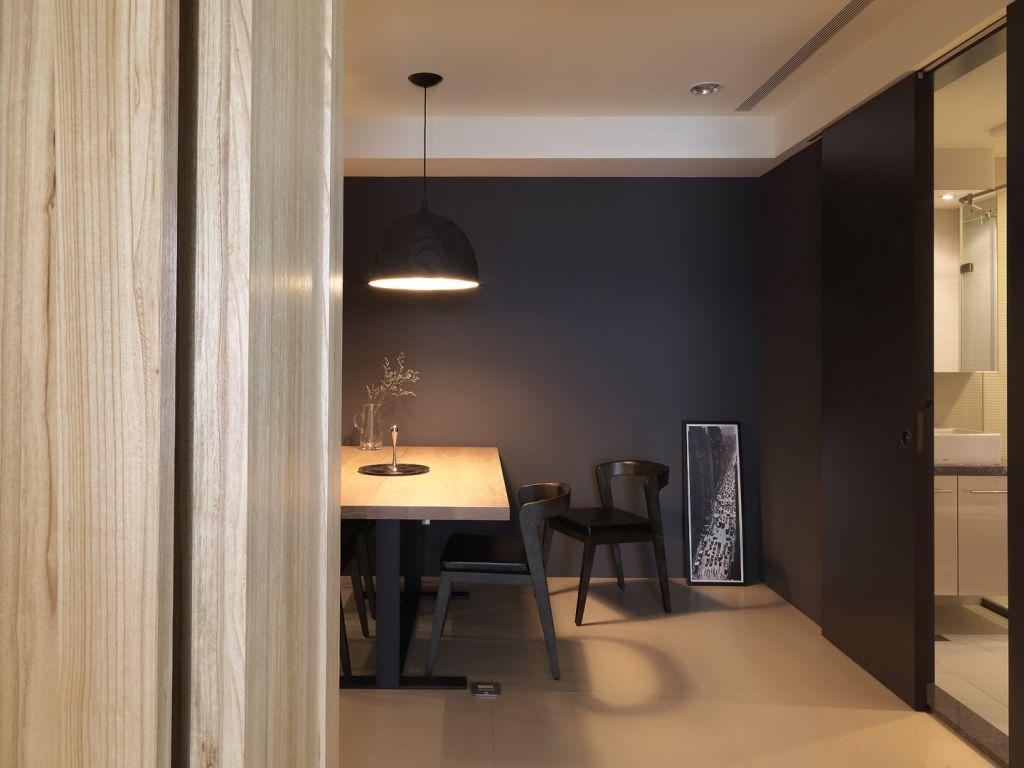 时尚黑色系简约公寓家居书房设计