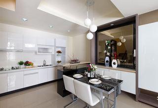 简欧时尚现代餐厨房隔断设计