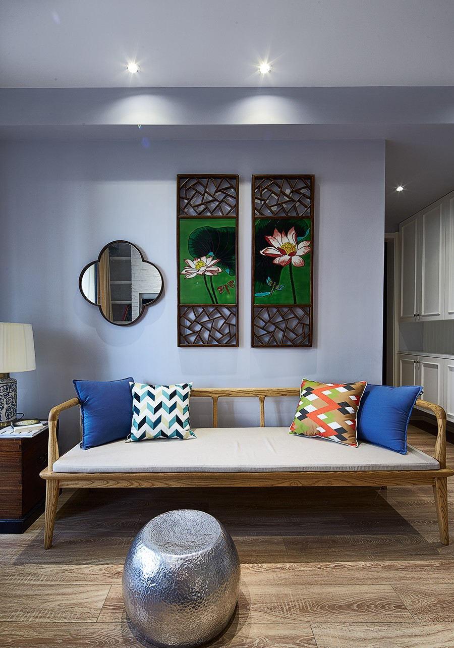 中式简约家居沙发装饰图