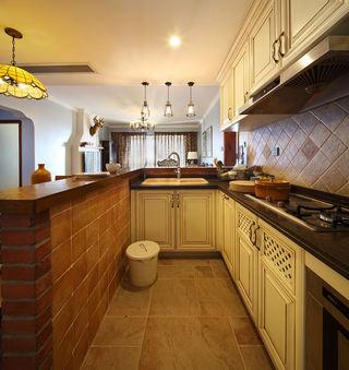 美式乡村风开放式厨房设计