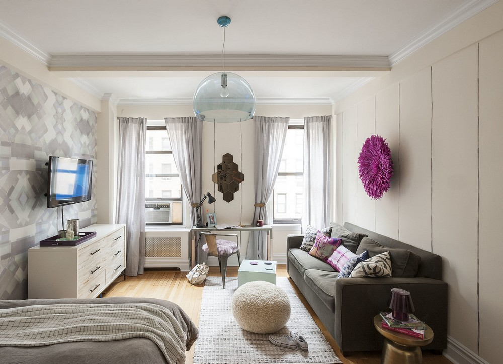 最新现代轻工业风小户型一居室家装案例图