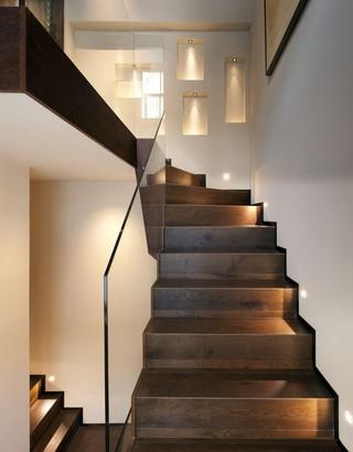 休闲美式风 复式实木楼梯设计