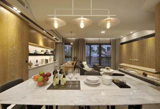 时尚现代风餐厅 大理石餐桌设计