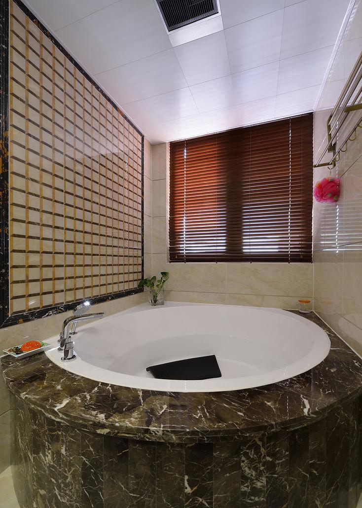 现代中式风大理石浴缸设计