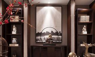 典雅新中式博古架水墨画设计