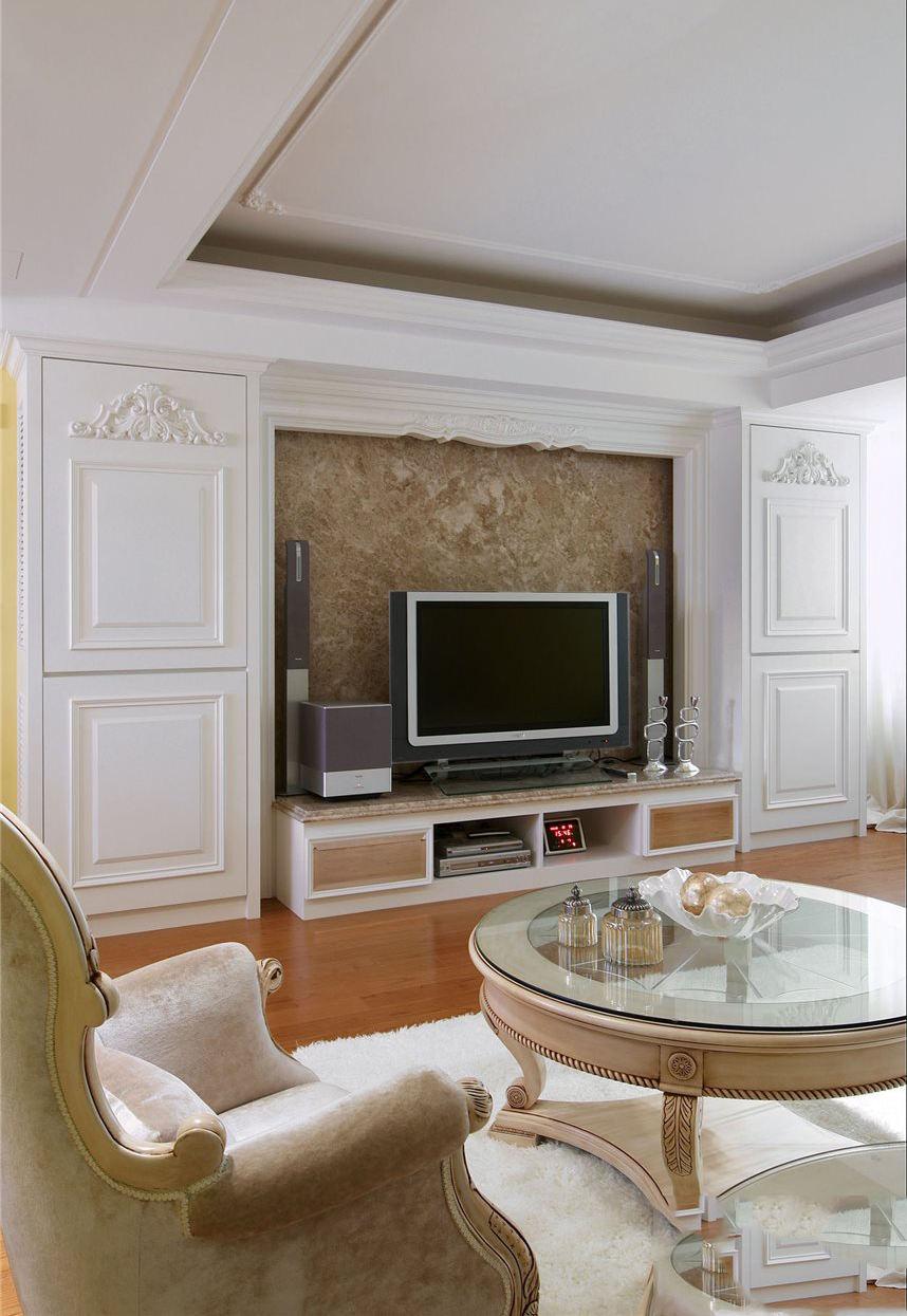 欧式设计风格客厅电视背景墙装修效果图