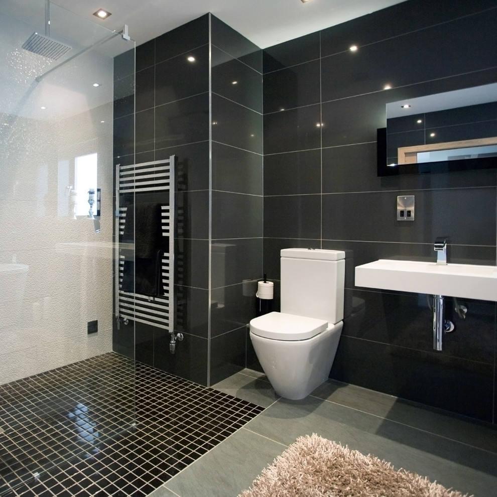 黑白时尚简约卫生间装修图