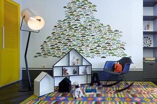个性创意现代儿童房墙纸装饰图