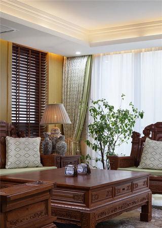 中式新古典客厅 红木家居设计