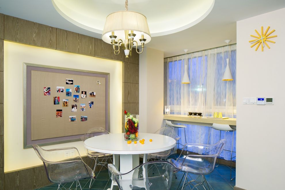 精美混搭餐厅照片墙效果图