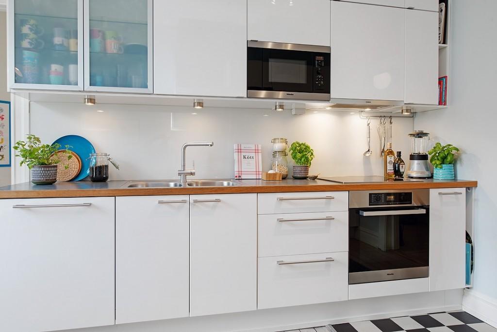 简约北欧厨房 白色橱柜效果图