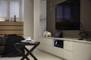深色系宜家风电视背景墙设计