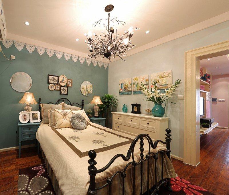 田园风卧室床头照片墙设计图