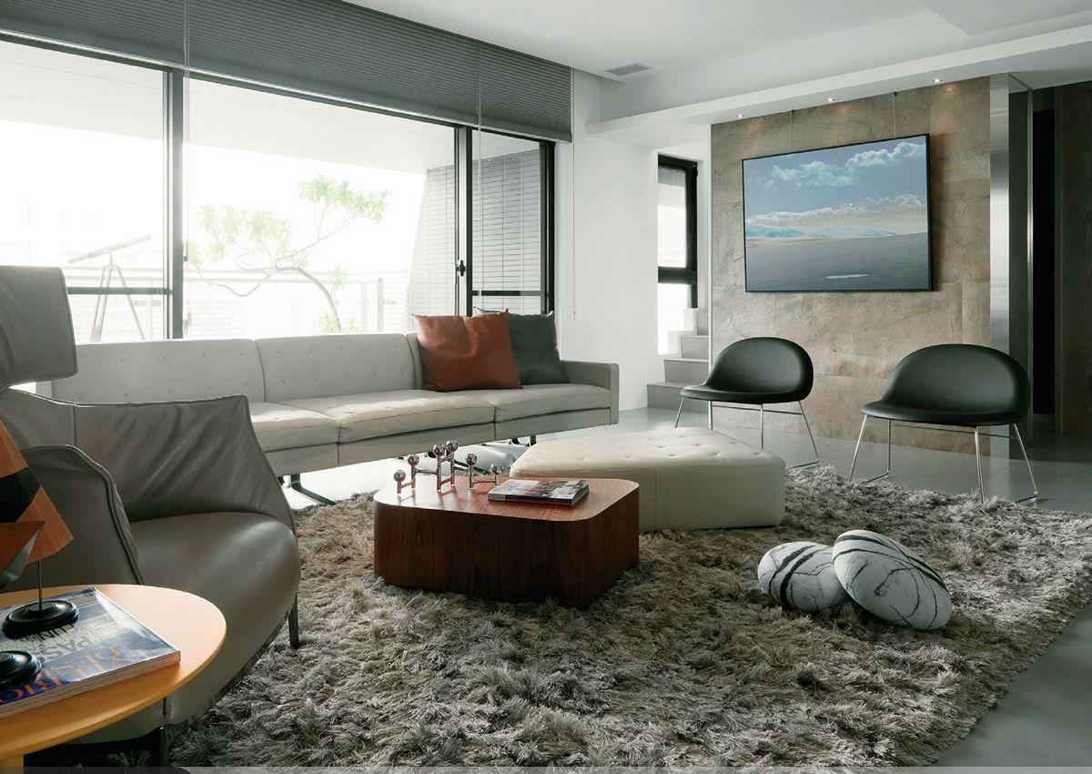 家装素雅现代风格复式客厅装修效果图