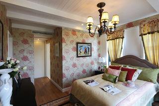 浪漫北欧新古典卧室花色背景墙装饰