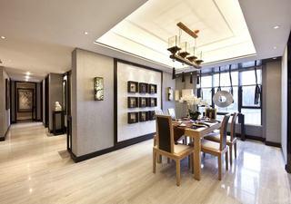 奢华精美现代新中式餐厅吊顶效果图