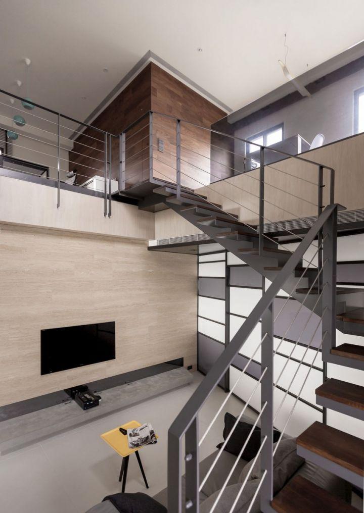 素雅别致现代简约 公寓跃层楼梯设计