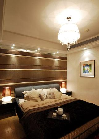 时尚低奢简约现代风卧室背景墙装饰欣赏