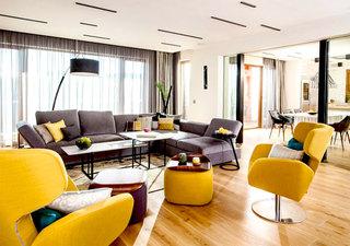 优雅时尚黄色装饰现代公寓美图