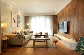 舒适暖色调简约日式二居美家设计效果图