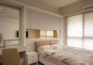 素雅现代简约设计卧室床头整体柜设计