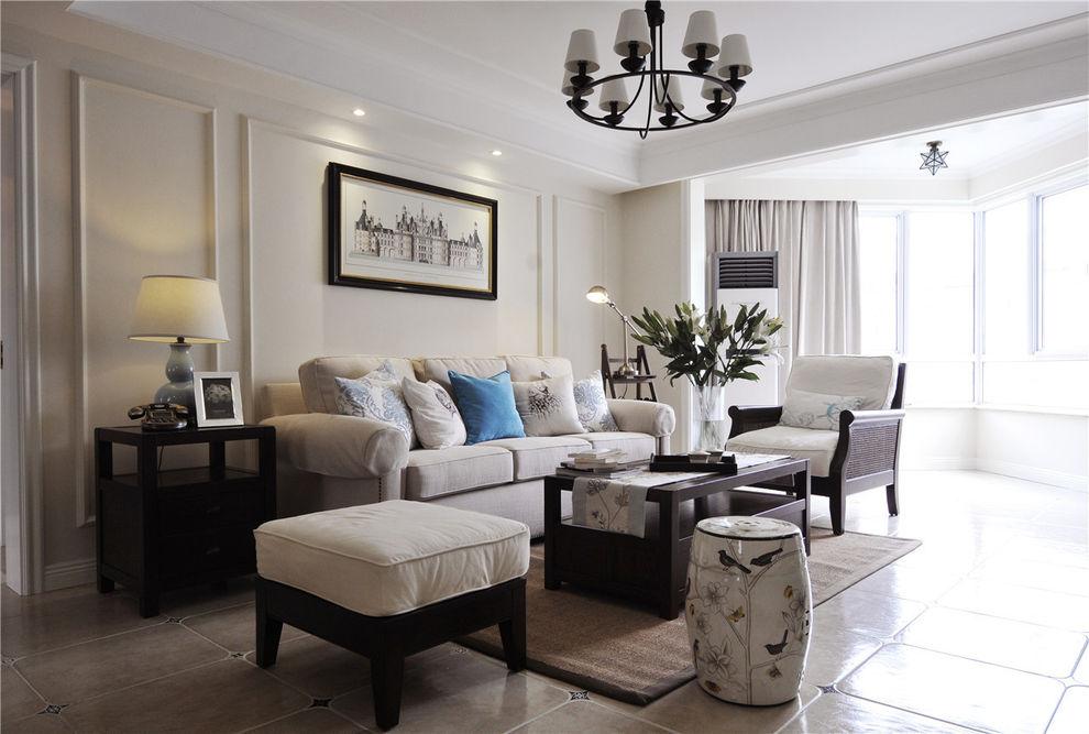 精致复古简约美式客厅设计效果图