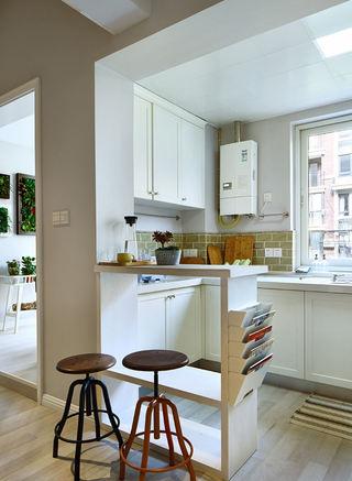 精美浪漫北欧风情厨房吧台隔断设计