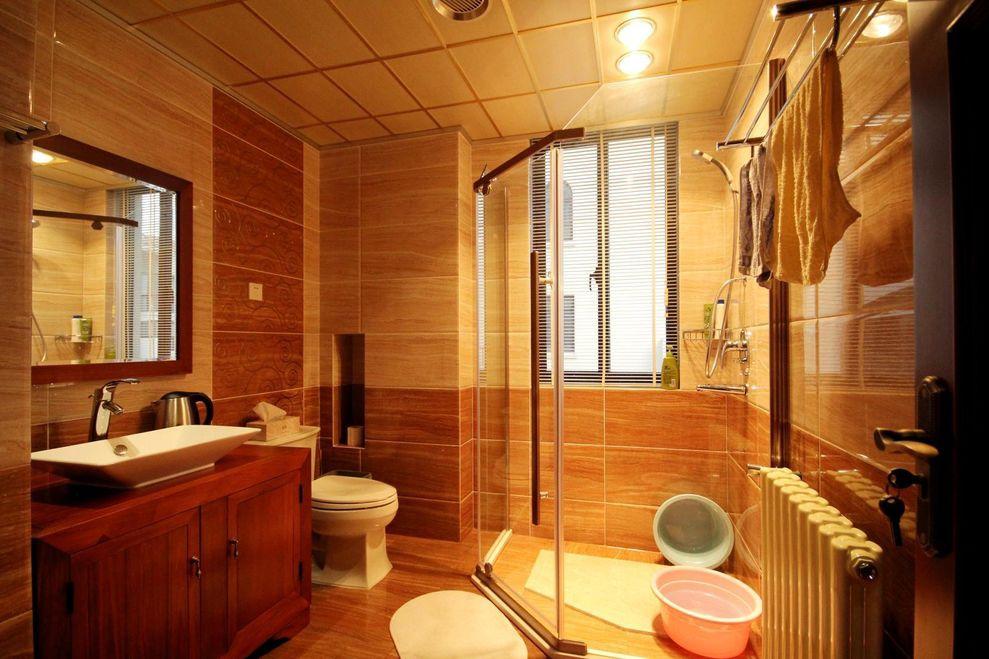 温馨复古简约中式卫生间装潢