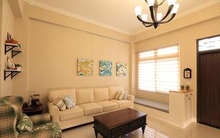温馨简约宜家风客厅沙发背景墙设计