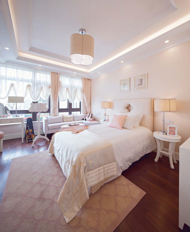 优雅裸色北欧风情卧室效果图大全