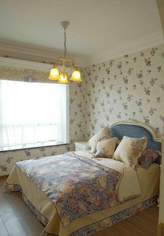 清新简欧田园风家居卧室带飘窗设计