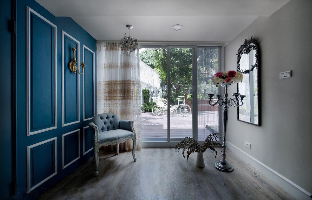 优雅浪漫美式田园风休闲区窗帘设计
