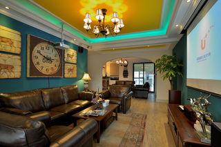 精美多彩北欧异域风情客厅隔断设计