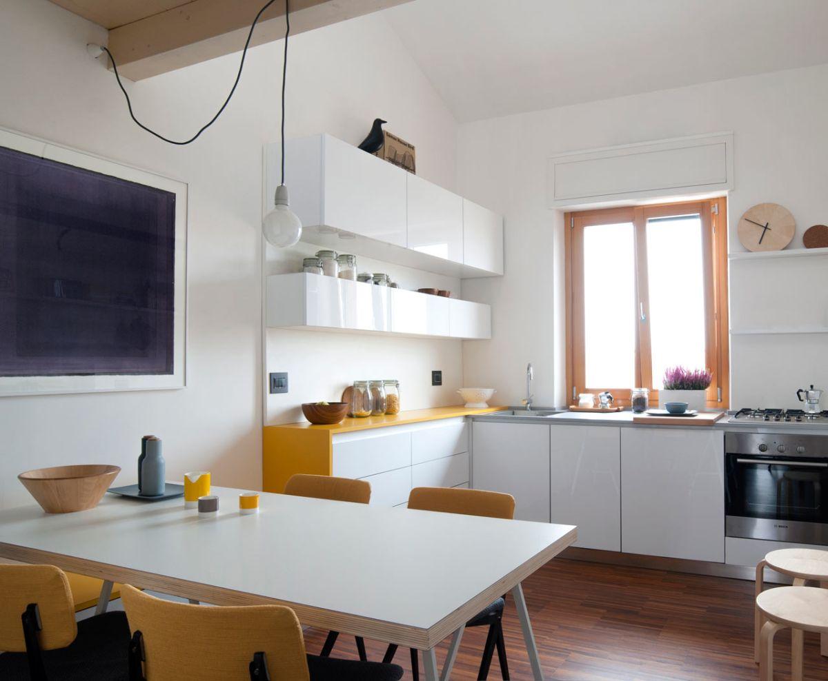 清新简约宜家风格厨房餐厅一体设计