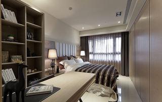 时尚现代卧室窗帘装饰图