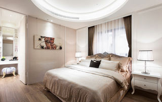 唯美精致裸色美式卧室设计效果图