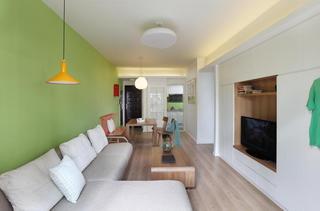 清新藍綠色調簡約宜家風三居裝飾效果圖