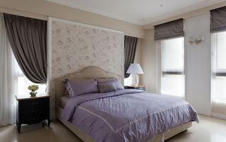 唯美浪漫美式卧室床头背景墙装饰