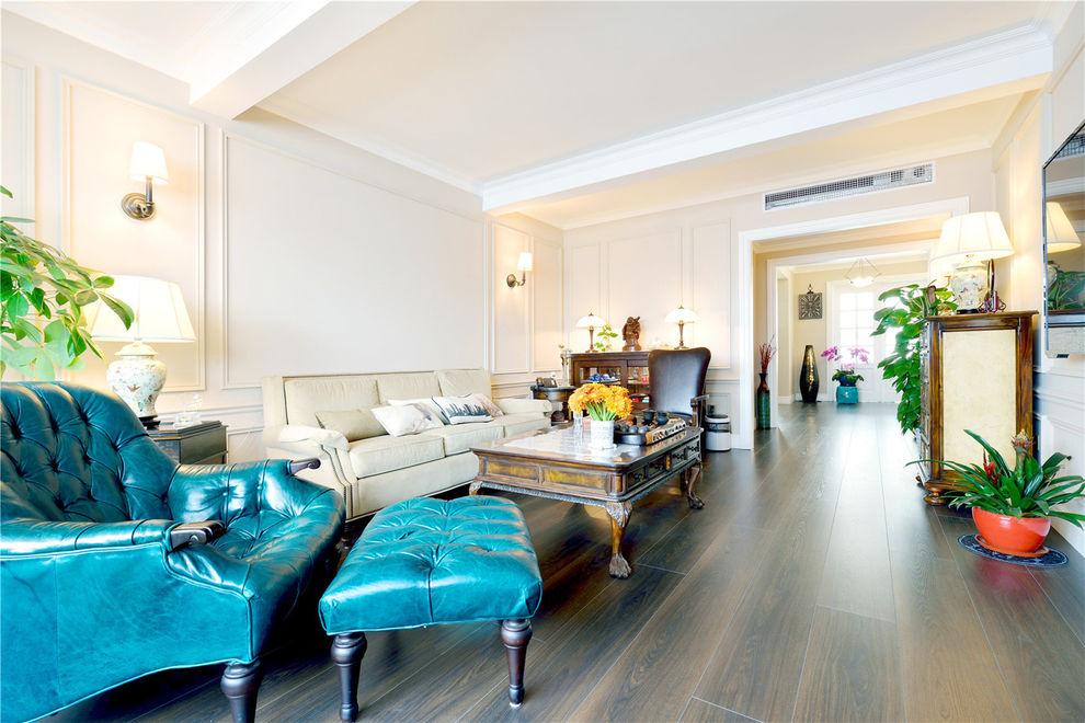 怀旧美式风格客厅效果图