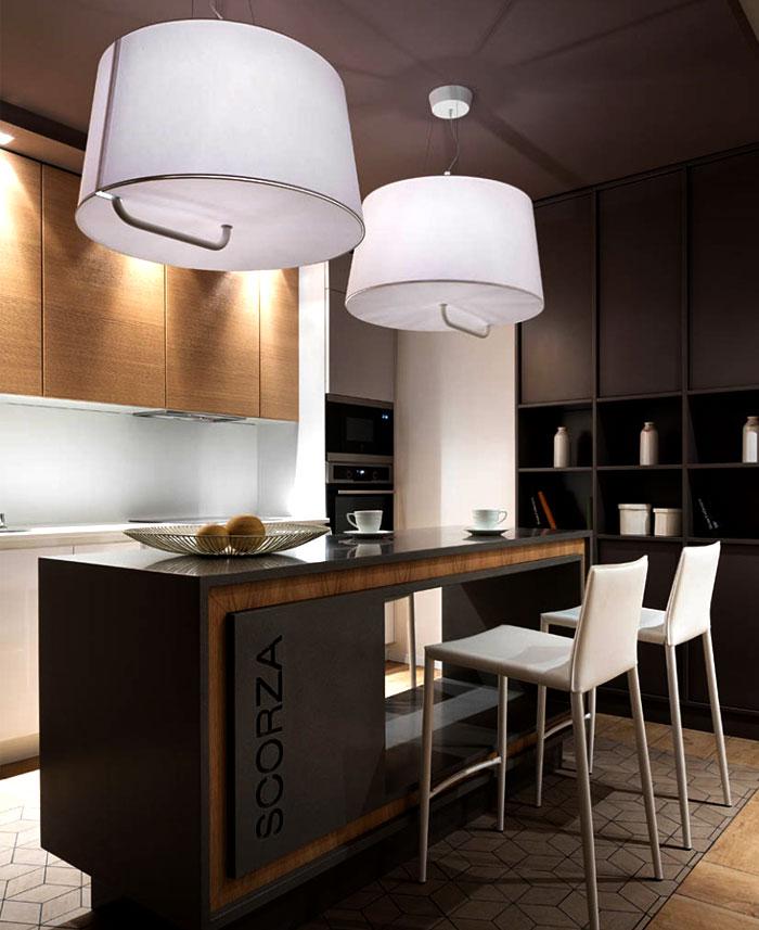 时尚黑色系现代风家居吧台设计