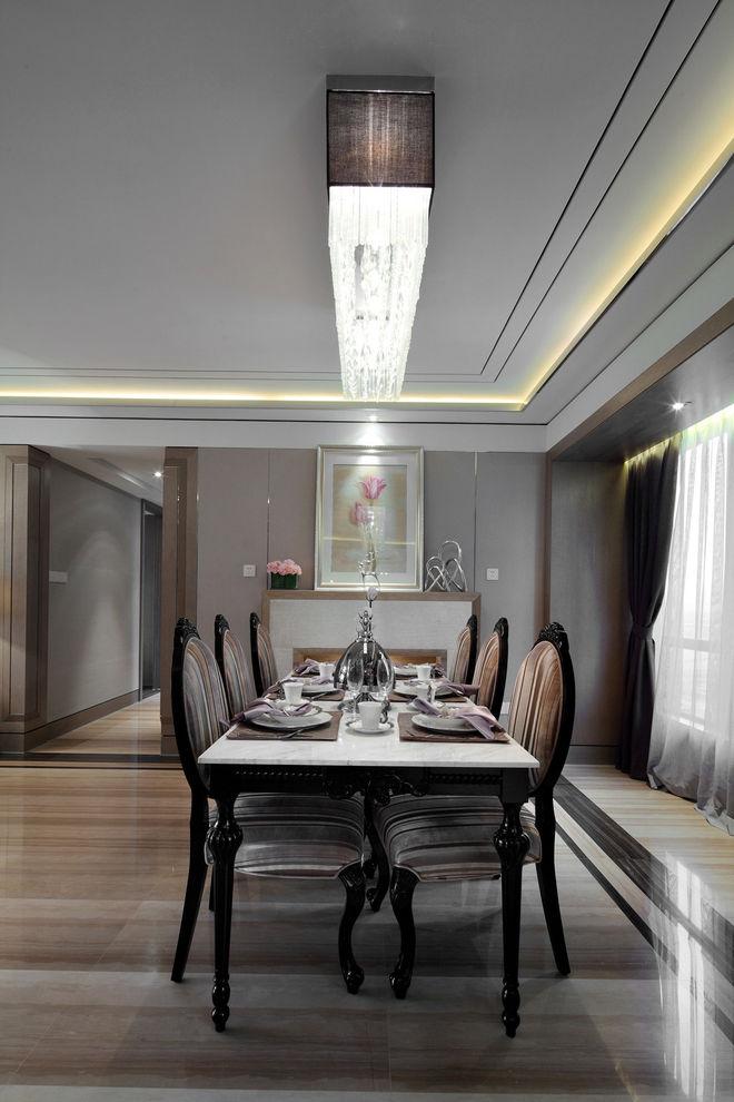 奢华优雅大气新古典别墅餐厅装饰大全