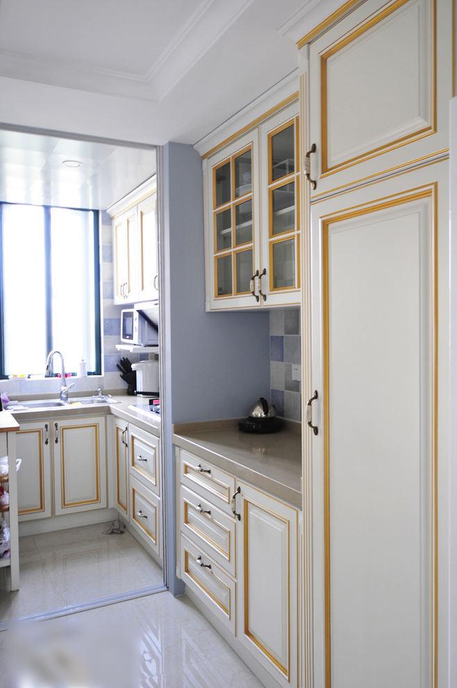 清新优雅复古美式厨房橱柜设计