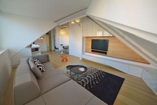简约现代不规则二居室装修设计图