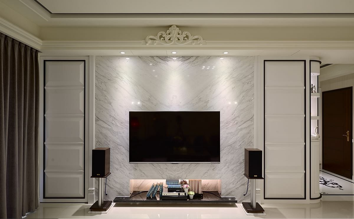 大理石电视背景墙效果图欣赏