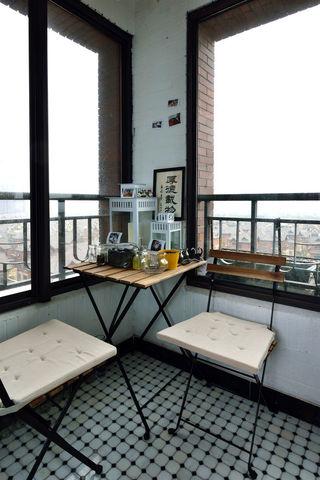 简约复古美式休闲阳台装修效果图