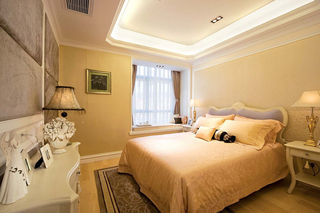 唯美浪漫简欧卧室飘窗设计