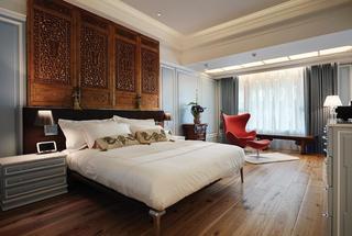 新古典主义卧室床头背景墙设计