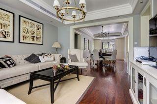 118平唯美清新浪漫美式三室两厅家居效果图