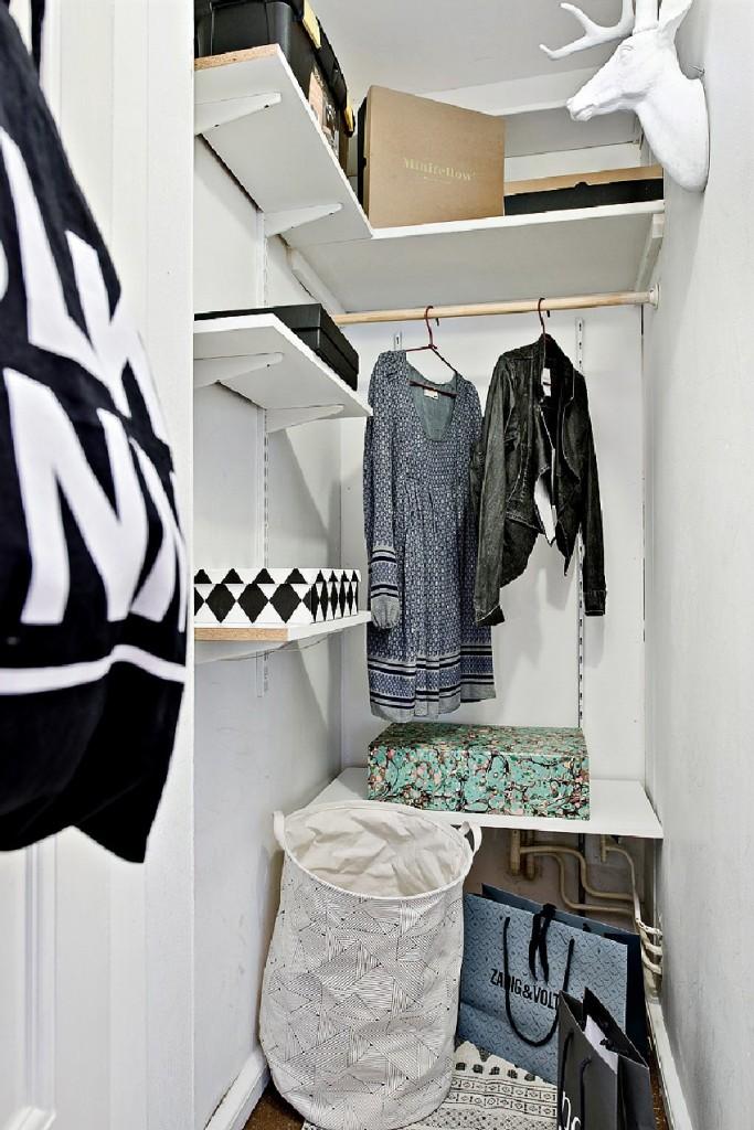 明亮创意北欧风小公寓衣帽间设计